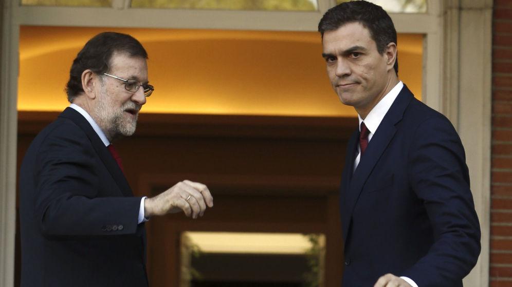 La bochornosa farsa de Rajoy y Sánchez